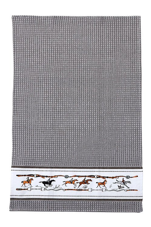 GG348GR Grey Jumping Horse Towel
