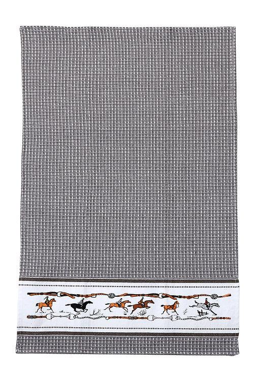 GG348GR Grey Jumping Horse Towel