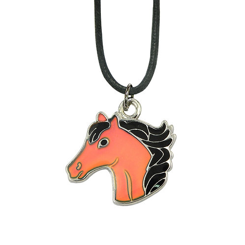 Horse Head Mood Necklace