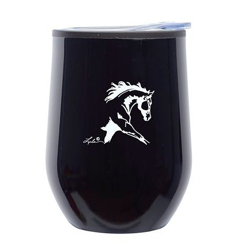 Lila©12 oz. Black Stemless Wine Tumbler