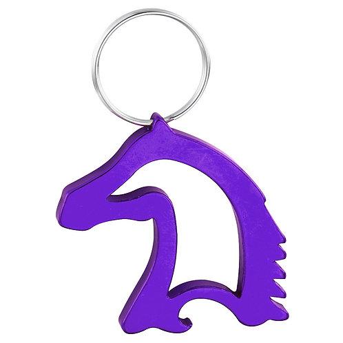 Purple Horse Head Key Chain & Bottle Opener