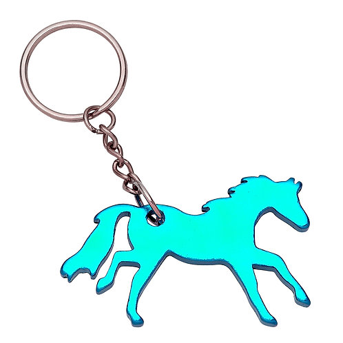 GG420TQ Turquoise Galloping Horse Key Chain