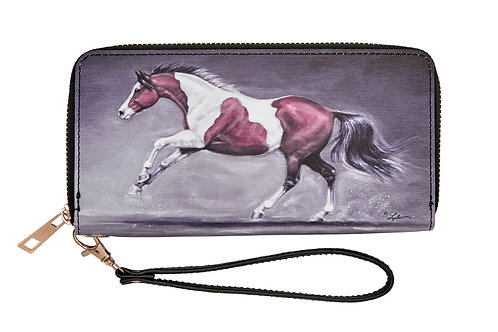 "LW447 ""Lila"" Galloping Paint Horse Wallet"