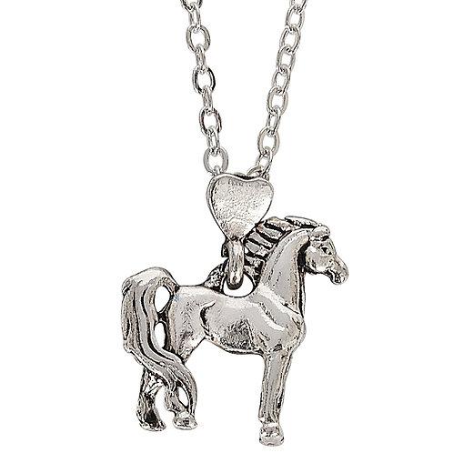 JN914 Proud Standing Horse Necklace