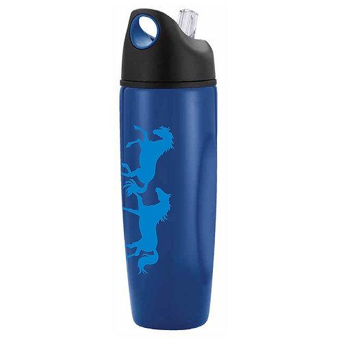 "GG641BL ""Lila"" Galloping Horses Sports Bottle, Blue"