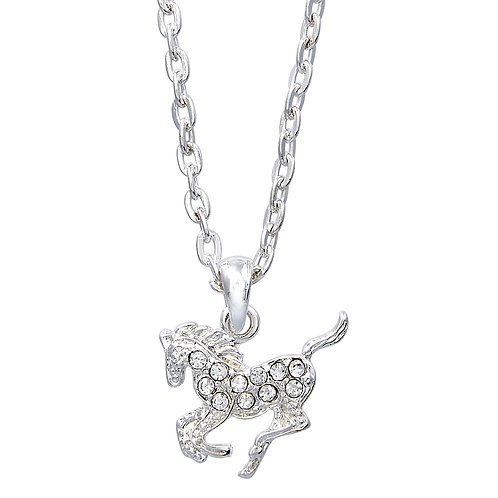 Clear Precious Pony Necklace