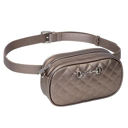 LP441ME Metallic Snaffle Bit Waist/Crossbody Bag