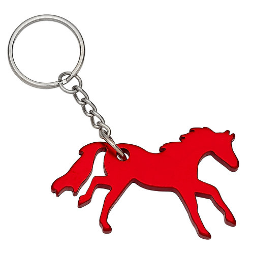 GG420RD Red Galloping Horse Key Chain