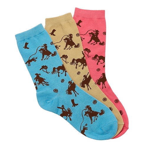 Lila©Rodeo Time Socks (3-Pack)
