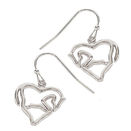 Horse Heart Earrings
