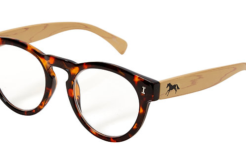 Lila© Tortoise Bamboo Reading Glasses