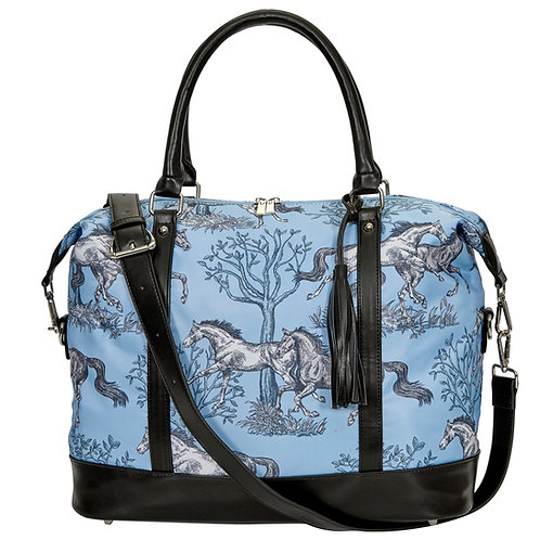 "LP454 ""Lila"" Blue Toile Travel Bag"