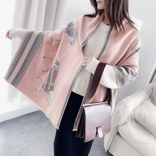GG1640PK Designer Style Scarf/Shawl, Pink