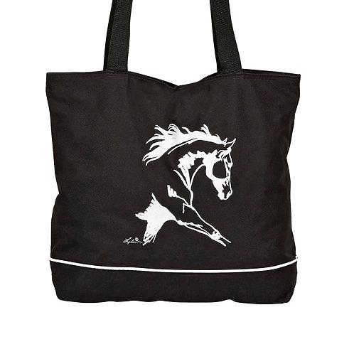 "GG771BK Black ""Lila"" Dressage Horse Tote"