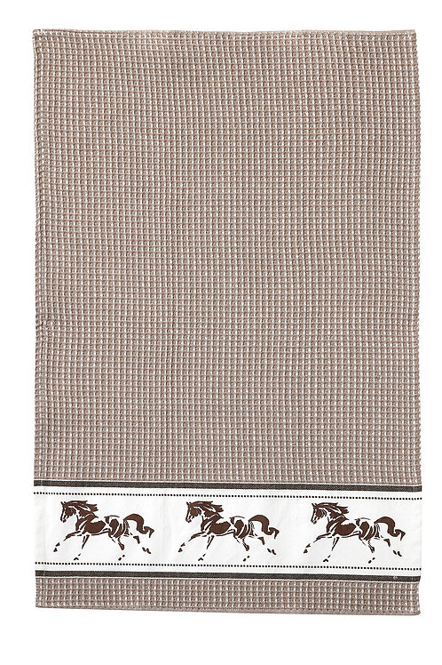 Beige Running Horse Towel