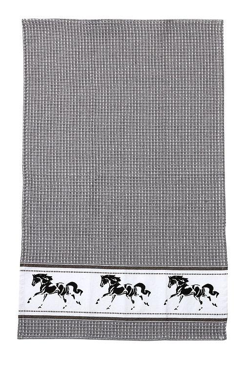 Grey Running Horse Towel