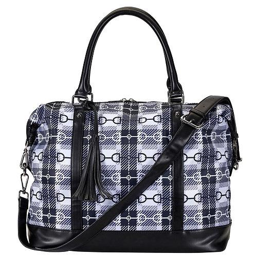 LP458 Black, Snaffle Bit Plaid, Travel Bag