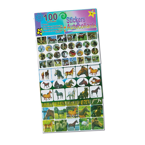 GG087 100 Piece Horse Sticker Set