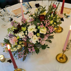 Fresh flower wedding table centrepiece