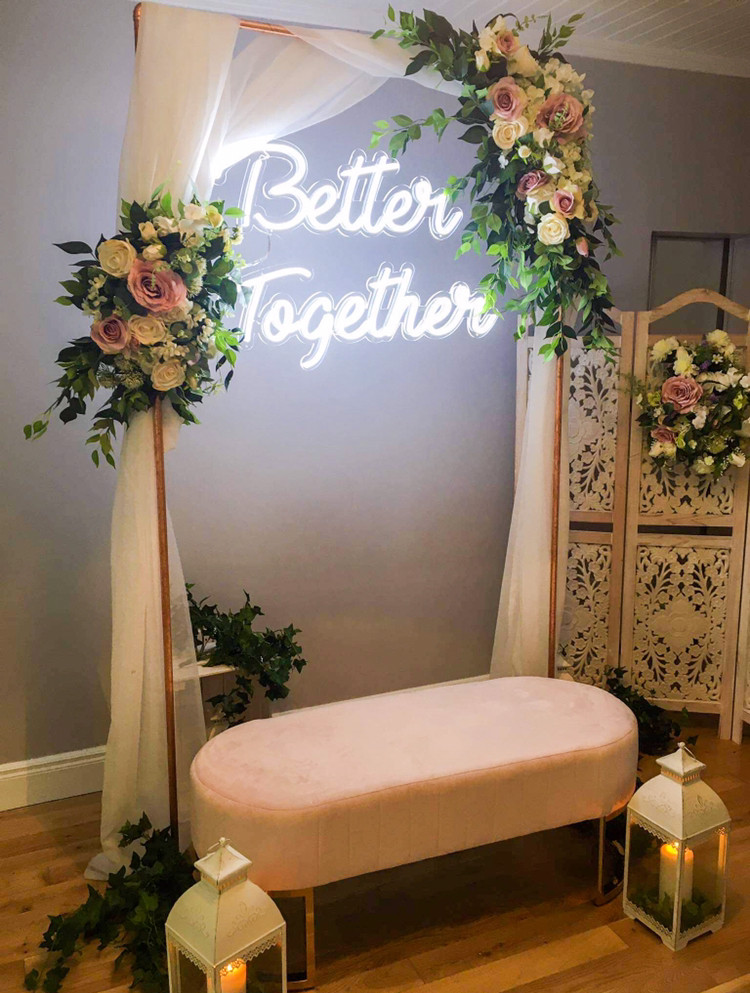Neon wedding sign - Better Together available to rent/ hire