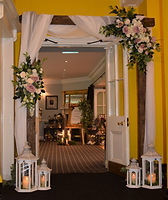 Rustic timber wedding arch, The Dunraven Arms Hotel, Adare