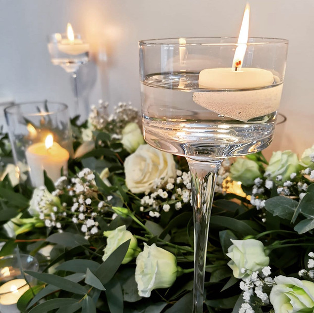 Candles and foliage