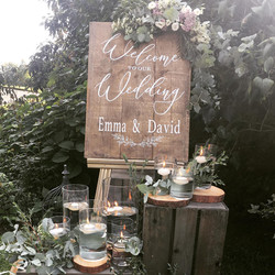 Personalised Rustic Timber Sign