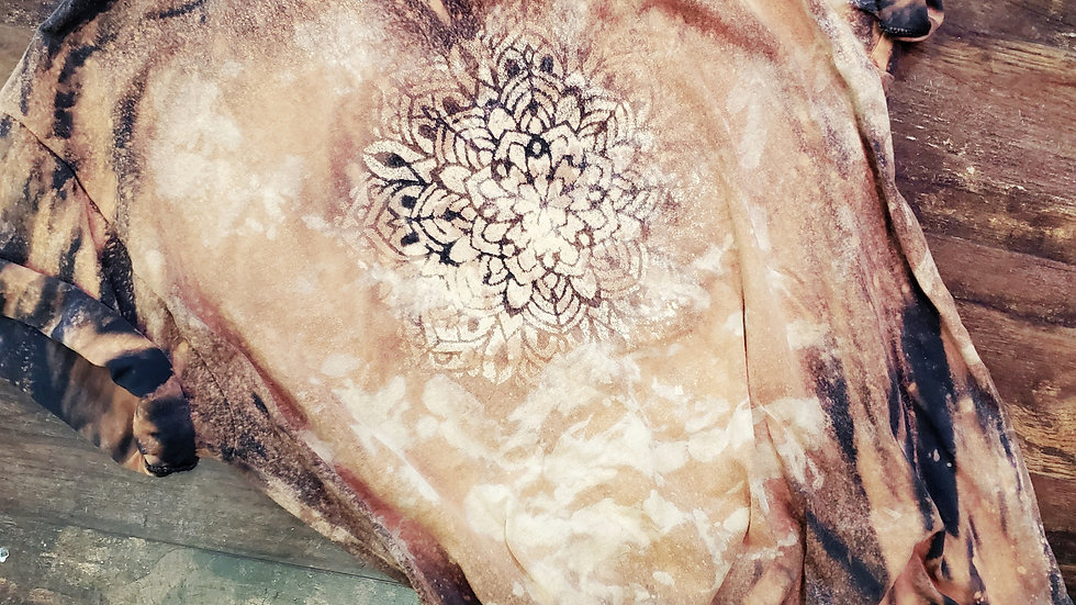 Reverse dyed mandala