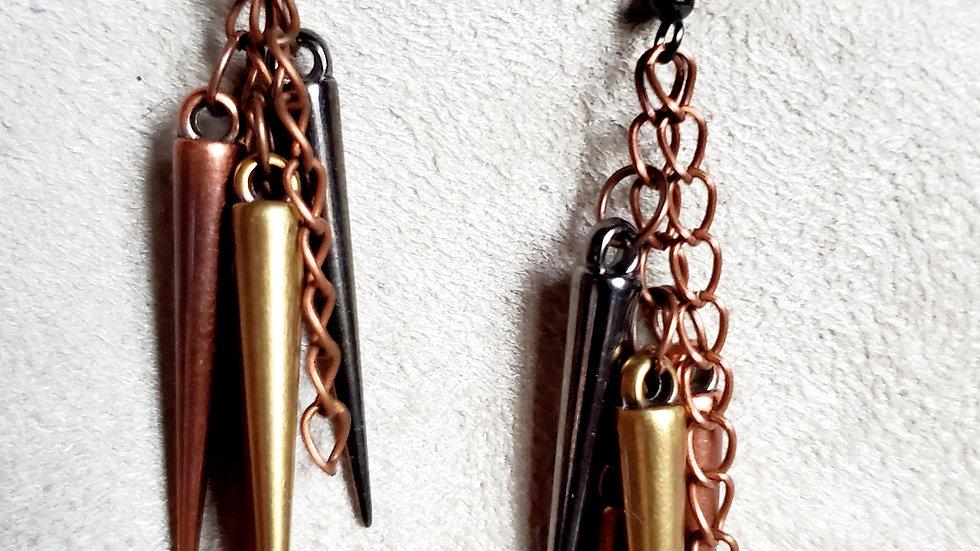 Spike cluster earrings