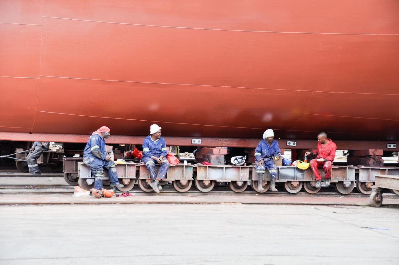 Shipyard In Africa