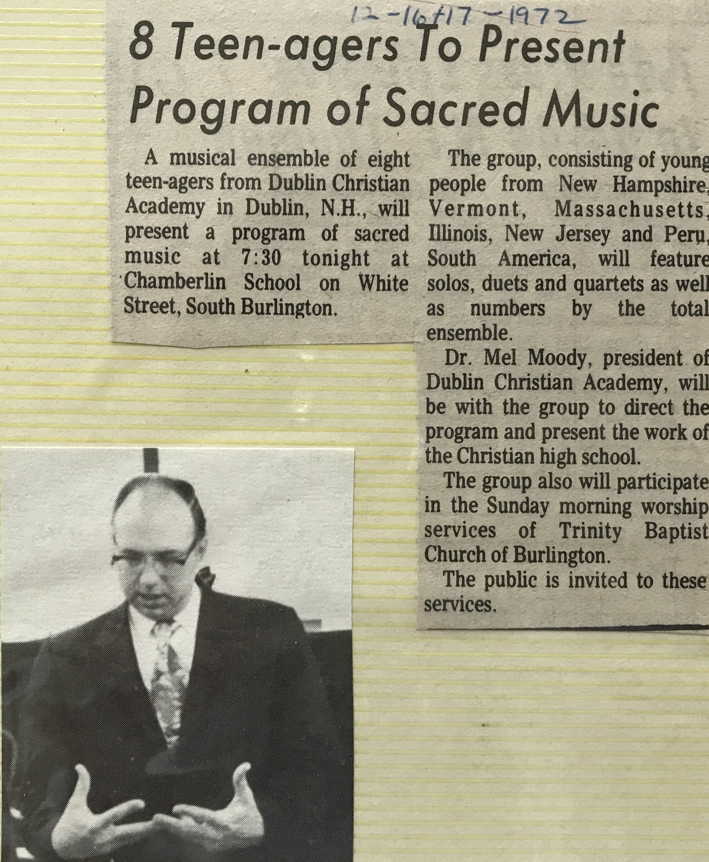 Sacred Music Program