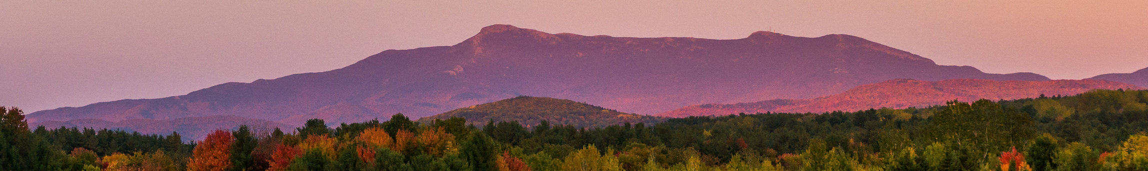 Mount Mansfied view from Trinity Baptist School in Williston, Vermont