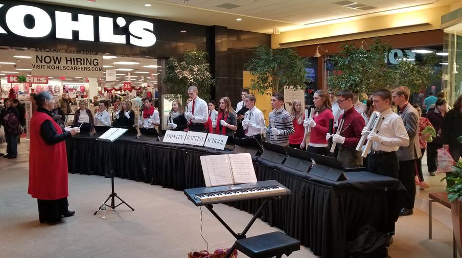 Singing at the U Mall