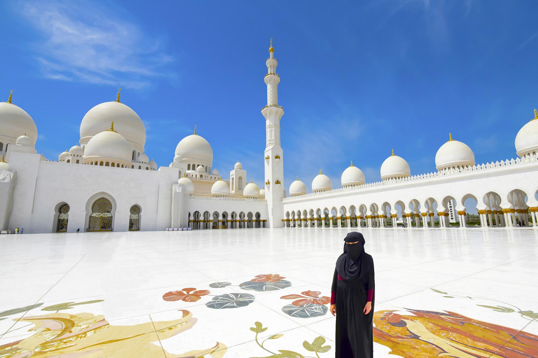 Grand Mosque In Abu Dhabi, UAE