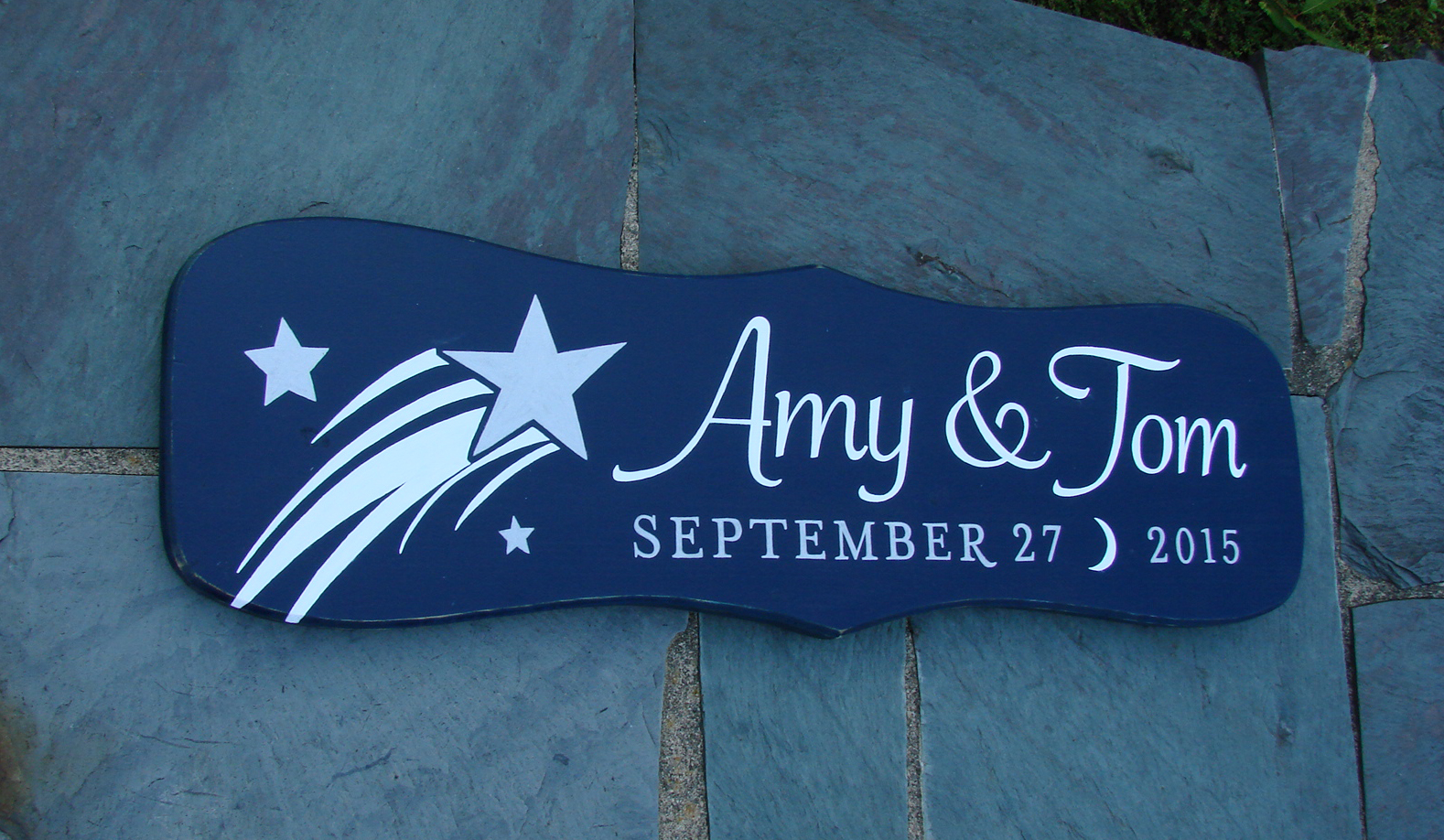 Amy & Tom Anniversary Sign