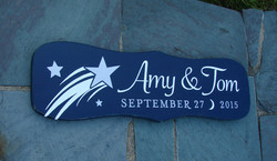 Amy & Tom Anniversary Sign