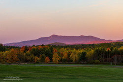 Mount Mansfield At Sunset