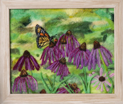 Monarch & Echinacea