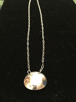 Simple Silver Disc Necklace