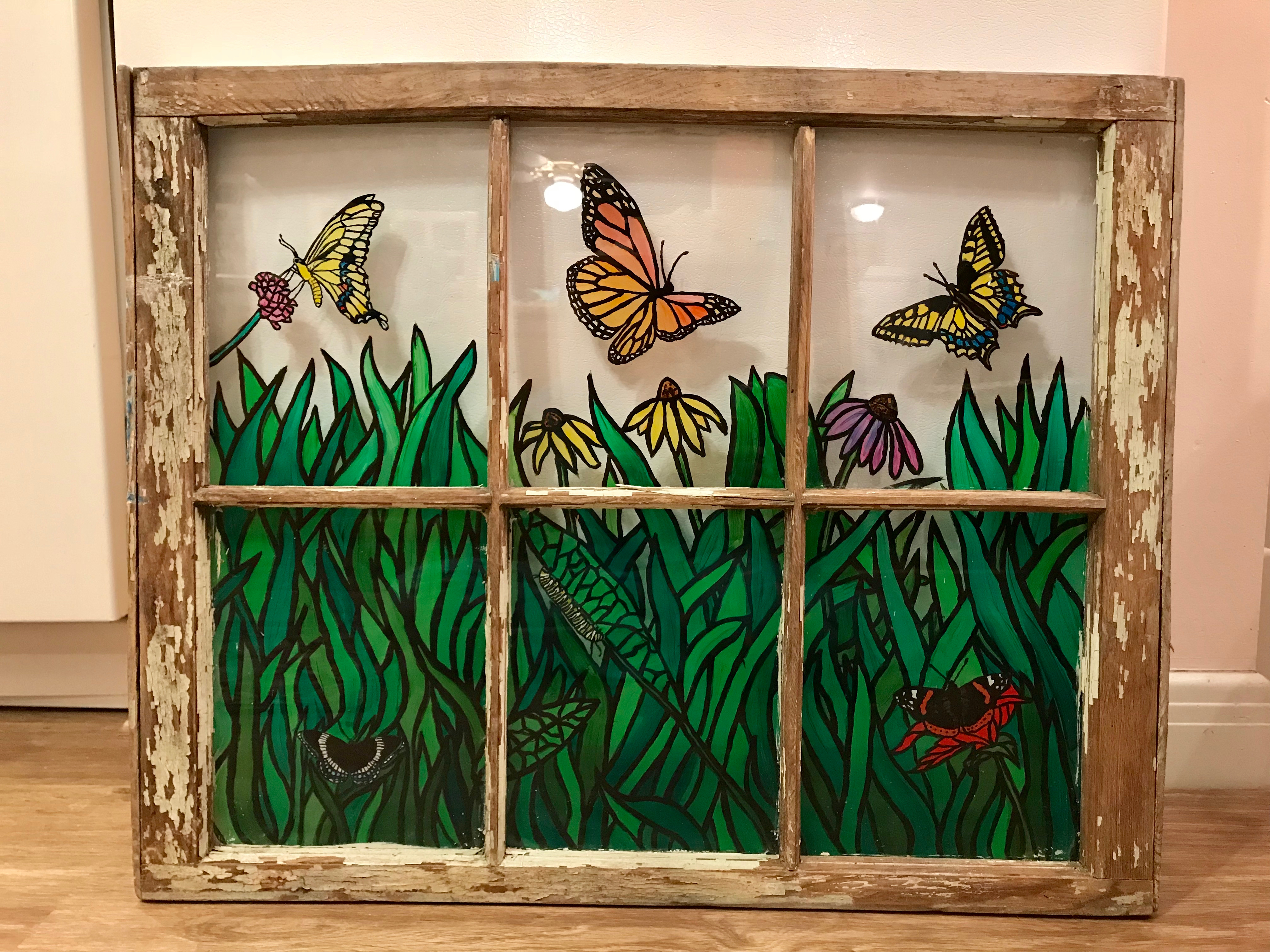 Glass Painting - Butterflies