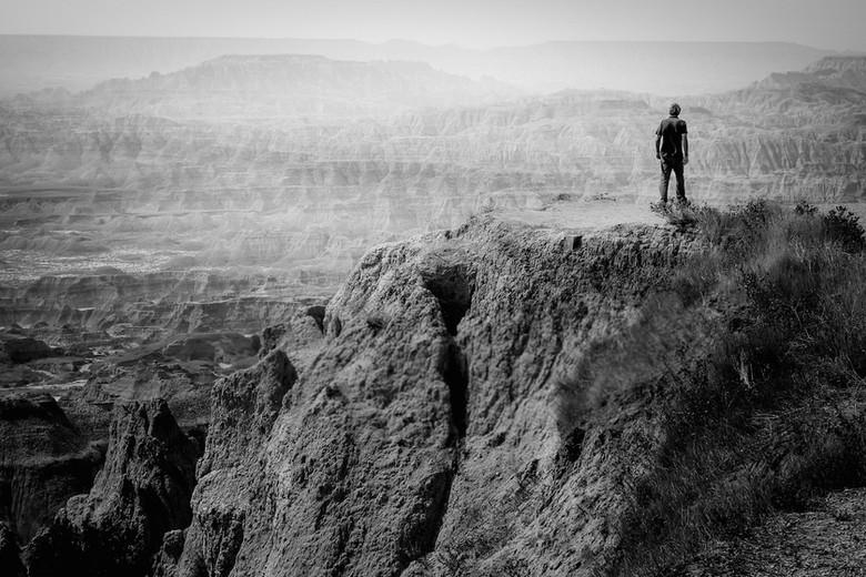 Figure in the Badlands