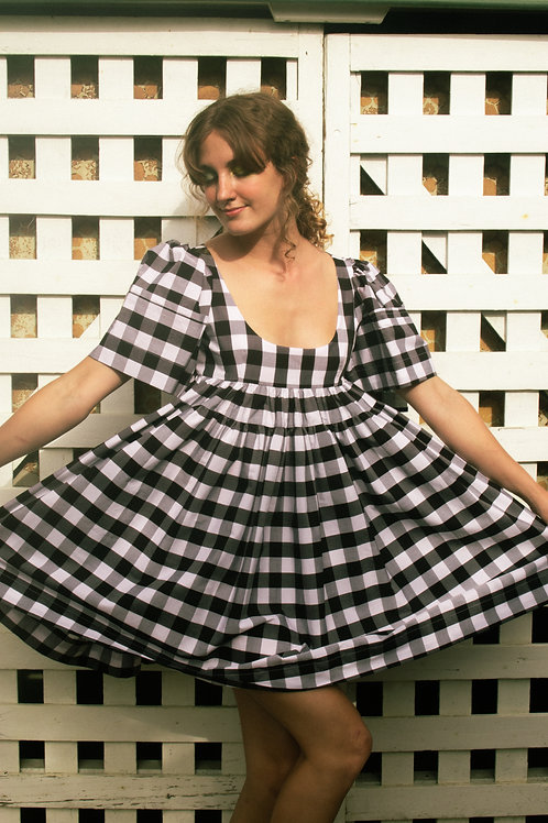 BABY JANE - black/ white gingham