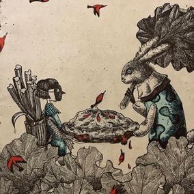 ' Her Rhubarb Pie'