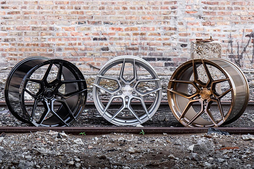 "20"" Staggered Rohana RFX11 Rotary Forged Wheel Set"
