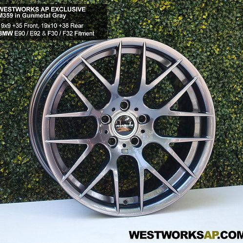 """19"""" x 9"""" / 10"""" Avant Garde M359 Gunmetal Wheel Set BMW F30/F32"""