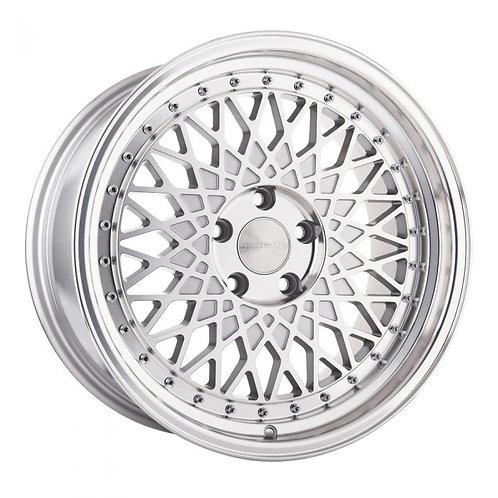 "18"" x 8"" Avant Garde M220 Wheel Set 5x100 SILVER"