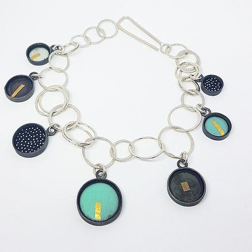 Charm bracelet turquoise mix