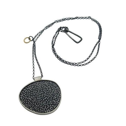 Dotty egg statement necklace