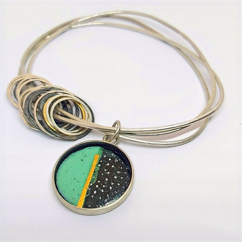 Enamel stacking bangle