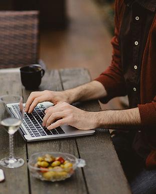 Bloggen op de laptop
